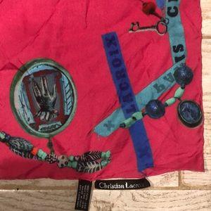 Whimsical Signature Christian Lacroix Silk Scarf